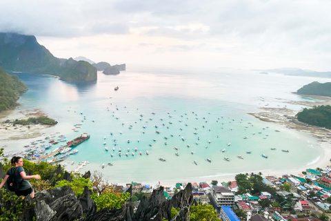 【菲律賓巴拉望】愛妮島自由行必挑戰!攀登 Taraw Cliff 將市區美景海景一網打盡!一次告訴你瘋狂的攻頂攻略|三八旅客