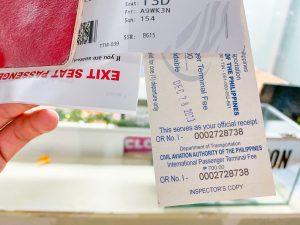 愛妮島五天四夜-離境稅憑證