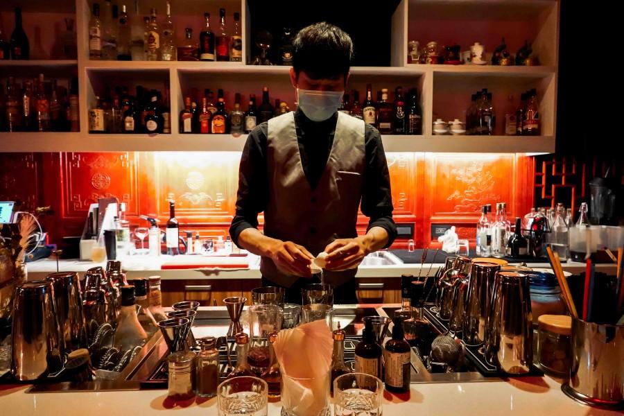台北瑰秘餐酒館調酒吧台